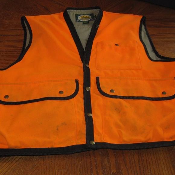 4595c740e76a5 Cabelas Jackets & Coats | Orange Hunting Vest W Built In Backpack Xl ...